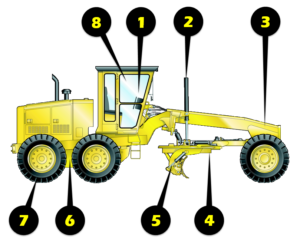 Motor Grader Inspection Illustration